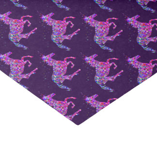Prismatic purple unicorn trendy tissue paper