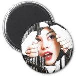 prison 6 cm round magnet