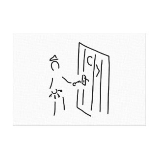 prison attendant prisoner of execution officials canvas print