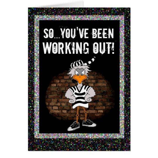 Prison card: Work out jailbird Card