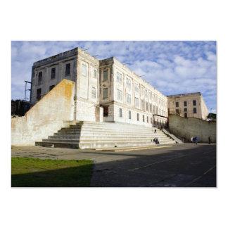 Prison Courtyard on Alcatraz 13 Cm X 18 Cm Invitation Card