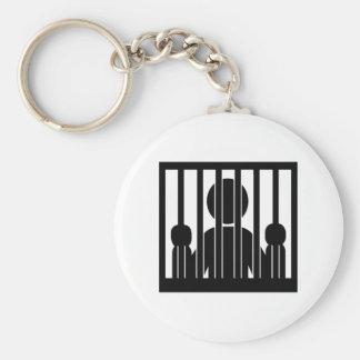 Prison jail arrest key chains
