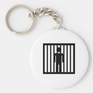 Prison jail arrest key chain