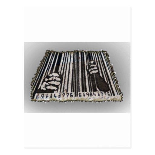 PRISON JAIL BAR CODE POST CARDS