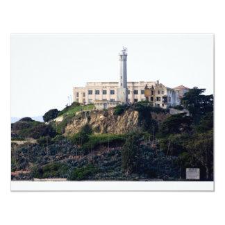 Prison On The Island of Alcatraz 11 Cm X 14 Cm Invitation Card