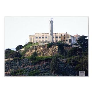 Prison On The Island of Alcatraz 13 Cm X 18 Cm Invitation Card