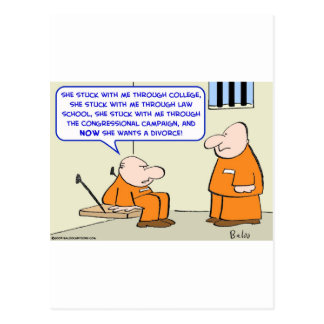 prison politician divorce postcard