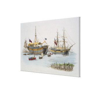 Prison Ships, from 'Costume of Great Britain', pub Canvas Print