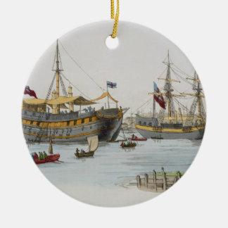 Prison Ships, from 'Costume of Great Britain', pub Round Ceramic Decoration