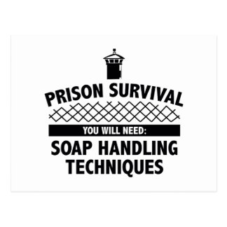 Prison Survival Postcard