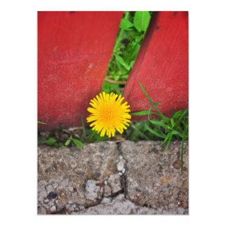 Prisoner flower 17 cm x 22 cm invitation card