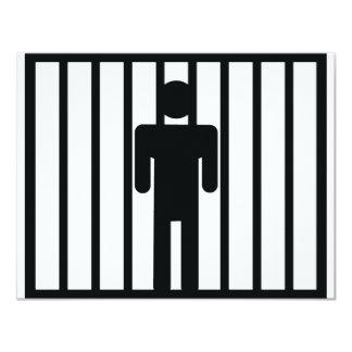 prisoner icon 11 cm x 14 cm invitation card