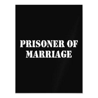 Prisoner of Marriage Magnetic Invitations