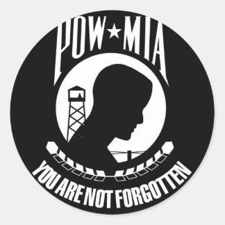 Prisoner of War - Missing in Action Classic Round Sticker