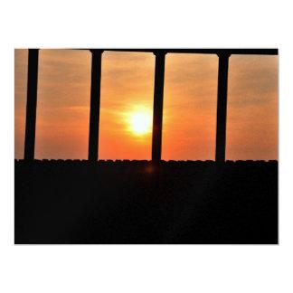Prisoner sun 17 cm x 22 cm invitation card