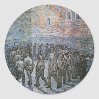 Prisoners Exercising by Vincent van Gogh Classic Round Sticker
