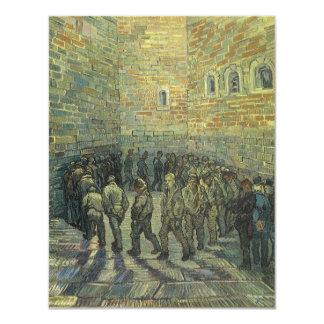 Prisoners Exercising, van Gogh, Vintage Fine Art 11 Cm X 14 Cm Invitation Card