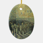 Prisoners Exercising, van Gogh, Vintage Fine Art Christmas Ornament