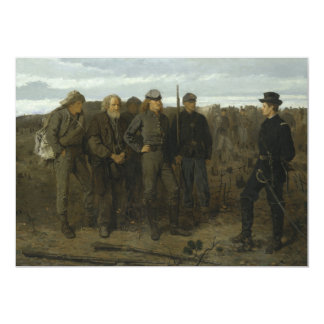 Prisoners from the Front by Winslow Homer 1866 13 Cm X 18 Cm Invitation Card