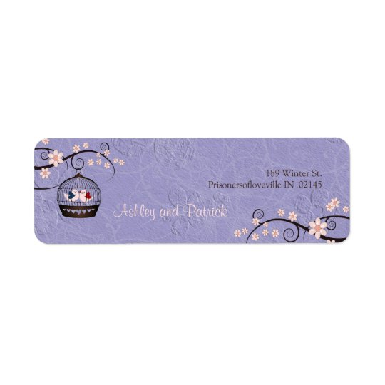 Prisoners of Love Violet Address Label