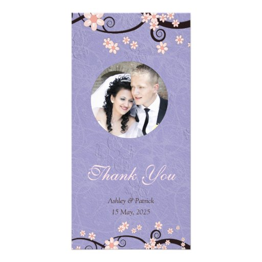 Prisoners of Love Violet Thank You Photo Customized Photo Card