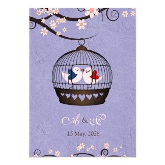 Prisoners of Love Violet Wedding Invite