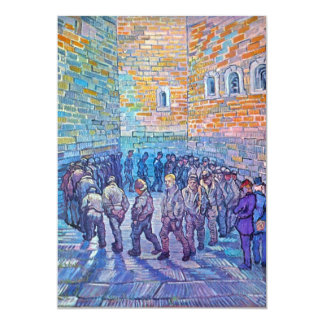 Prisoners walking the Round by Vincent van Gogh 13 Cm X 18 Cm Invitation Card