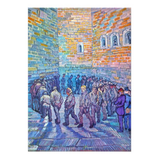 Prisoners walking the Round by Vincent van Gogh Custom Invitation