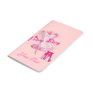 PRISSY SISSY - Pink Feathered Corset Journal