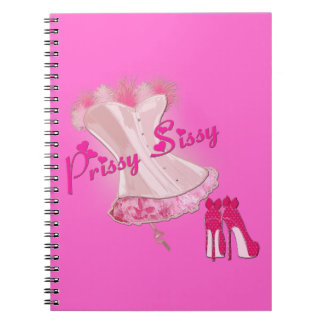 PRISSY SISSY - Pink Feathered Corset Note Books