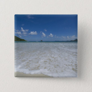 Pristine Tropical White Beach 15 Cm Square Badge