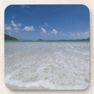 Pristine Tropical White Beach Drink Coasters