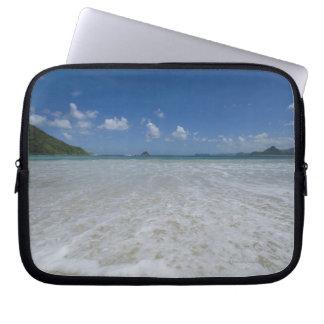 Pristine Tropical White Beach Laptop Sleeve