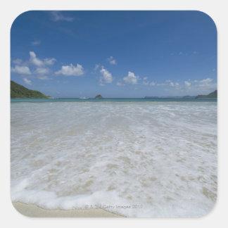 Pristine Tropical White Beach Square Sticker