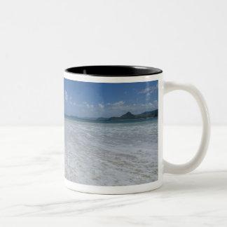 Pristine Tropical White Beach Two-Tone Coffee Mug