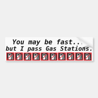 Prius Bumper Sticker You May Be Fast