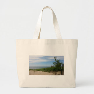 Private Beach on Lake Michigan Jumbo Tote Bag