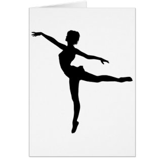 PRIVATE DANCER (silhouette - modern dance) ~ Greeting Card