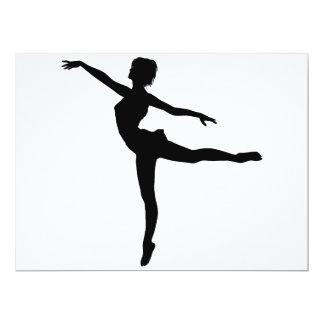 PRIVATE DANCER (silhouette - modern dance) ~ 17 Cm X 22 Cm Invitation Card