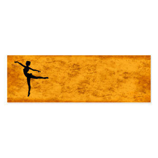 PRIVATE DANCER (silhouette - modern dance) ~ Pack Of Skinny Business Cards
