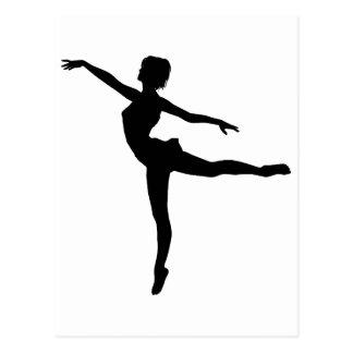 PRIVATE DANCER (silhouette - modern dance) ~ Postcard