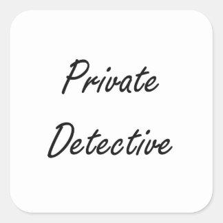 Private Detective Artistic Job Design Square Sticker