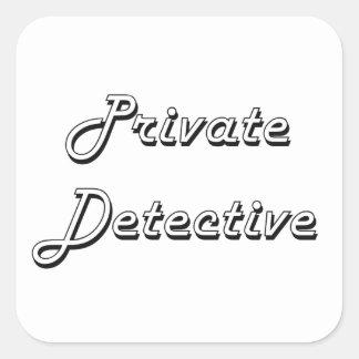Private Detective Classic Job Design Square Sticker