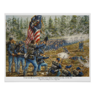 Private Ford Rallies The 61st PVI at Fair Oaks Poster