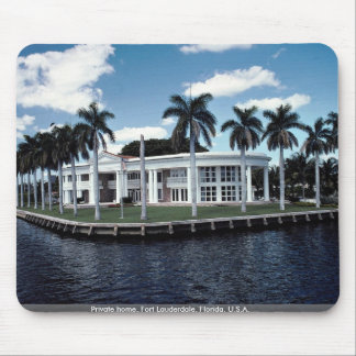 Private home, Fort Lauderdale, Florida, U.S.A. Mouse Pads