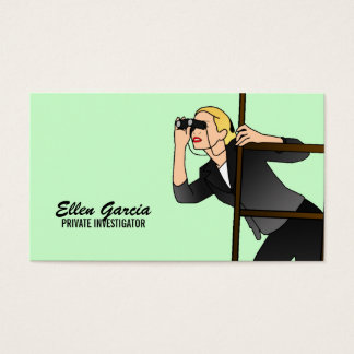 Private Investigator Business Cards- Blonde