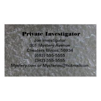 Private Investigator's business card