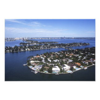 Private Island homes of Biscayne Bay Star Photo Print