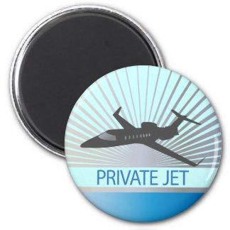 Private Jet Aircraft 6 Cm Round Magnet