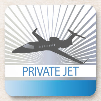 Private Jet Aircraft Drink Coaster